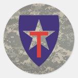 digital, etiqueta estrella-redonda de TXSG