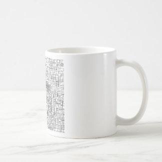Digital Existence / Skull Classic White Coffee Mug