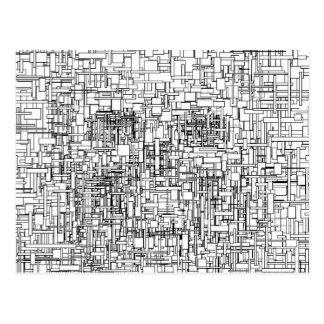 Digital Existence / Skull Post Card