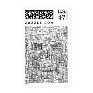 Digital Existence / Skull Postage Stamp