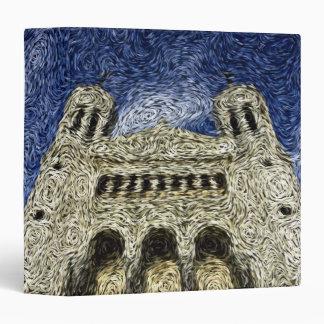 Digital Expressionism: Basilica de Fourvière 3 Ring Binder