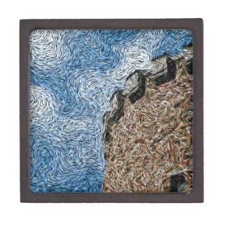 Digital Expressionism: Castle Turret Premium Keepsake Boxes