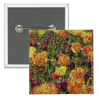 Digital Expressionism: Field of Tulips Button