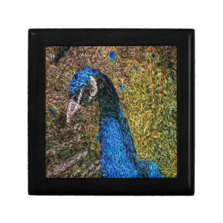 Digital Expressionism: Peacock Plumage Gift Box