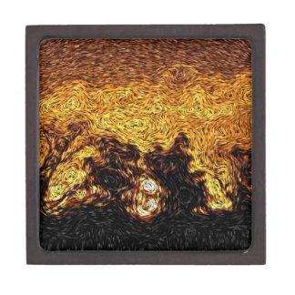 Digital Expressionism: Sky on Fire Sunrise Premium Keepsake Box