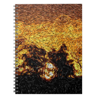 Digital Expressionism: Sky on Fire Sunrise Spiral Notebook