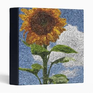 Digital Expressionism: Sunflower 3 Ring Binder