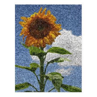 Digital Expressionism: Sunflower Postcards