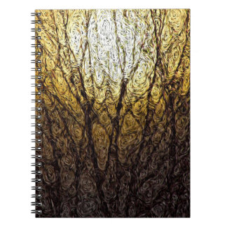 Digital Expressionism: Sunlight in Branches Spiral Notebook