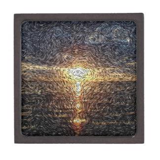 Digital Expressionism: Tropical Sunset Premium Trinket Box