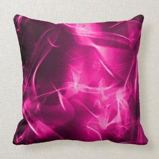 Digital Faerie Magick Fractal Pattern Throw Pillow