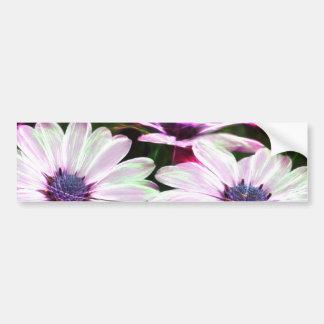Digital Field of Pink and Purple Flowers Bumper Stickers