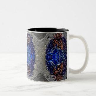 Digital fine art abstract two tone designer mug