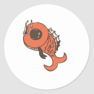 Digital Fish Classic Round Sticker