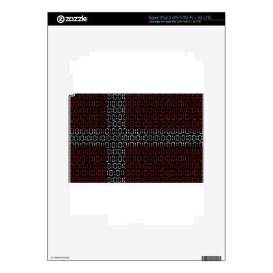 digital Flag (Denmark) Decal For iPad 3
