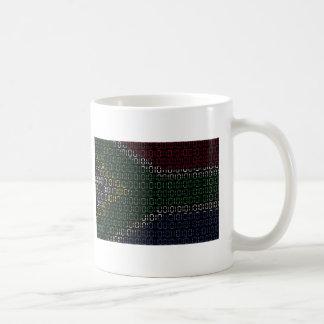 digital Flag South Africa Coffee Mug