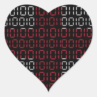 digital Flag (St George's Cross) Heart Sticker