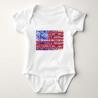 digital Flag (USA) & circuit board. Baby Bodysuit