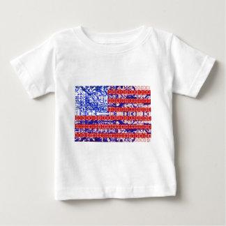 digital Flag (USA) & circuit board. Baby T-Shirt