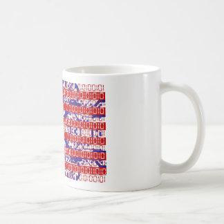 digital Flag (USA) & circuit board. Mugs