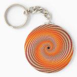 Digital flare - Fractal Keychain
