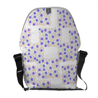 Digital Floral design Messenger Bags