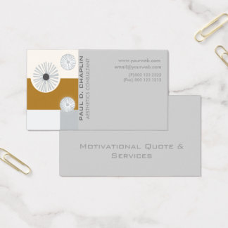Digital Floral  Minimal Geometric Modern Business Card
