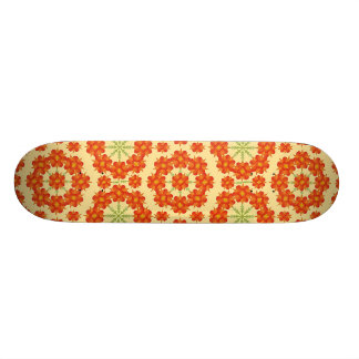 Digital Floral Pattern Skateboard Deck