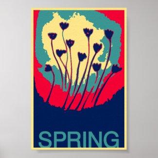 Digital Flower Art Poster