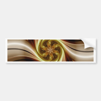 Digital flower brown white created by Tutti Bumper Sticker