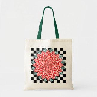 Digital Flower Budget Tote Bag