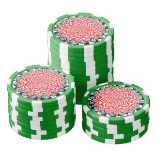 Digital Flower by Kenneth Yoncich Poker Chips Set