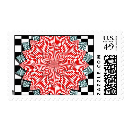 Digital Flower by Kenneth Yoncich Postage