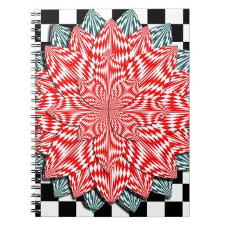 Digital Flower by Kenneth Yoncich Spiral Notebook
