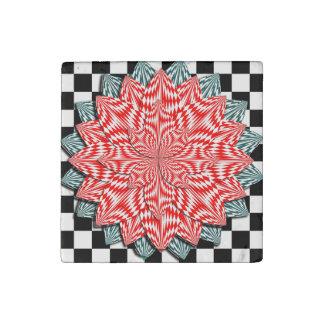 Digital Flower by Kenneth Yoncich Stone Magnet