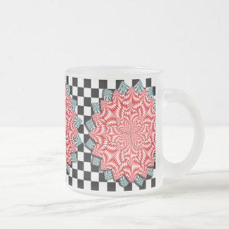 Digital Flower Frosted Glass Mug