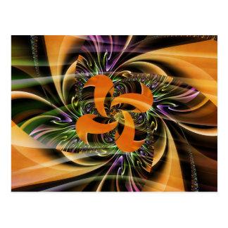 Digital Flower golbbrown created by Tutti Postcard