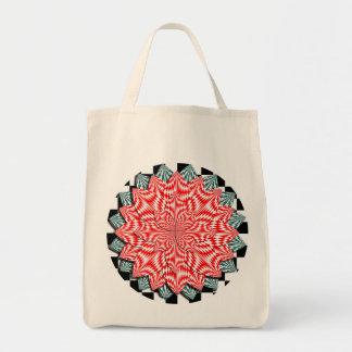 Digital Flower Grocery Tote Tote Bag