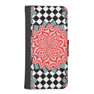 Digital Flower iPhone SE/5/5s Wallet