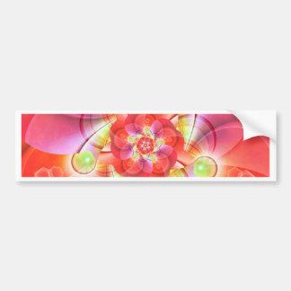Digital flower orange red created by Tutti Bumper Sticker