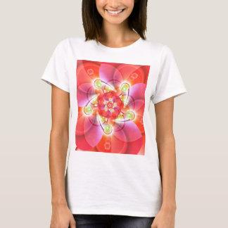 Digital flower orange red created by Tutti T-Shirt