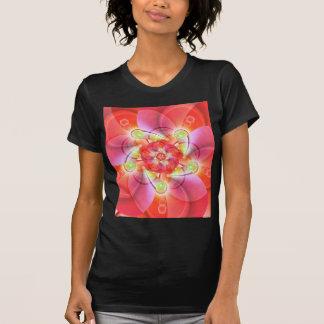 Digital flower orange red created by Tutti T-shirts