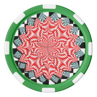 Digital Flower Poker Chips