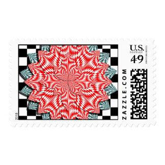 Digital Flower Postage Stamp