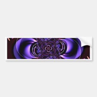 Digital Flower purple and pink by Tutti Bumper Sticker