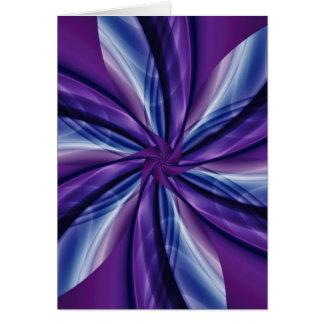 Digital Flower purple no. 2 created by Tutti Greeting Card