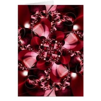 Digital Flower red by Tutti Card