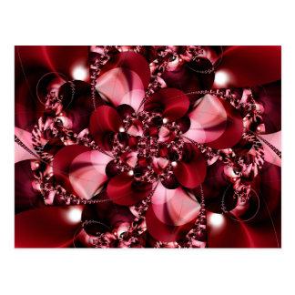 Digital Flower red by Tutti Postcard