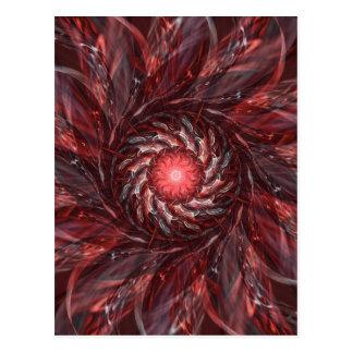 Digital Flower red Postcard