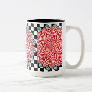Digital Flower Two-Tone Mug